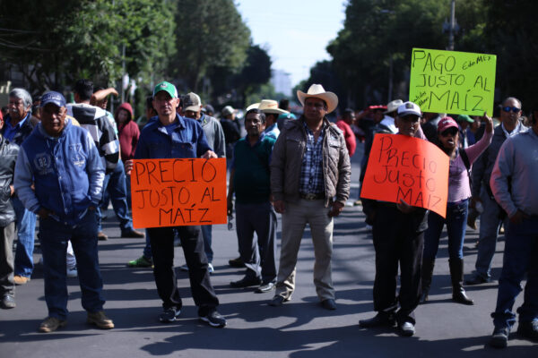 2017: Farmers in favor of leaving the North American Free Trade Agreement, Mexico City, Mexico.