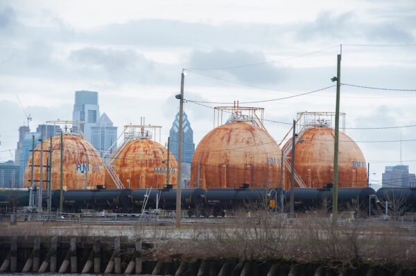 2018: View of the refinery on the Schuylkill's east bank.