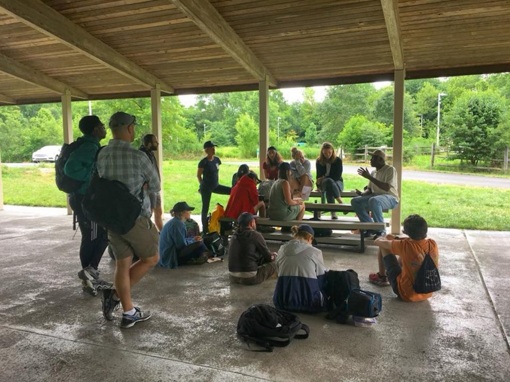 2018: Community member Earl Wilson meets with participants of Schuylkill Corps' On-Water Intensive.