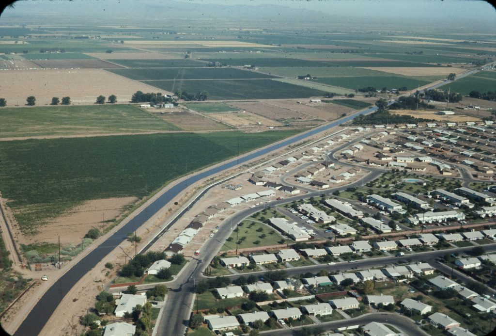 The Central Arizona Project: CAP fueled suburban development of Arizona, with housing supplanting farmland