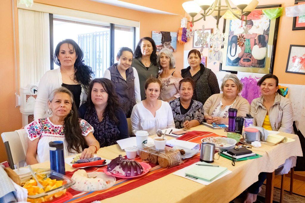 2019: Parent Pioneers meet in Rosa RiVera Furumoto's home.