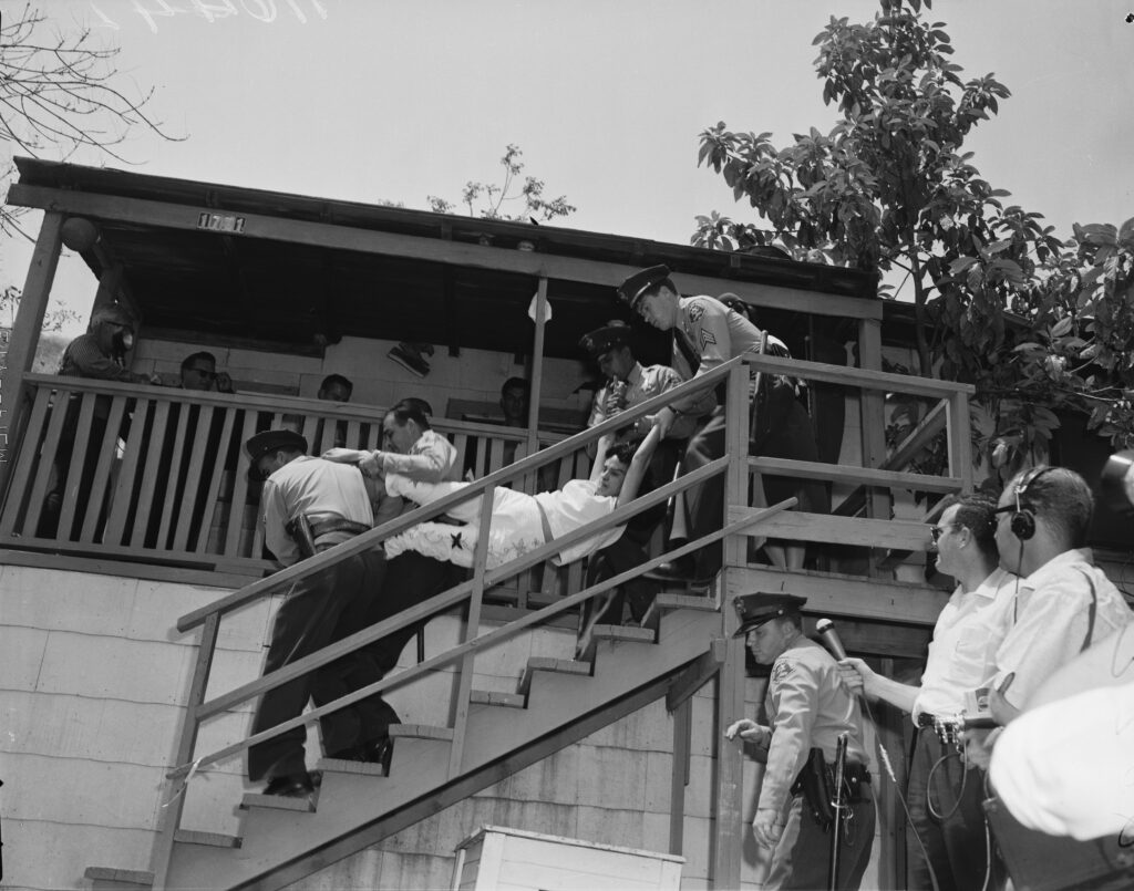 1959: Angustain family evicted from home in Chavez Ravine.
