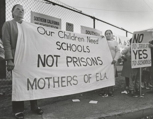 1986: Mothers of East L.A. oppose an East L.A. Prison.