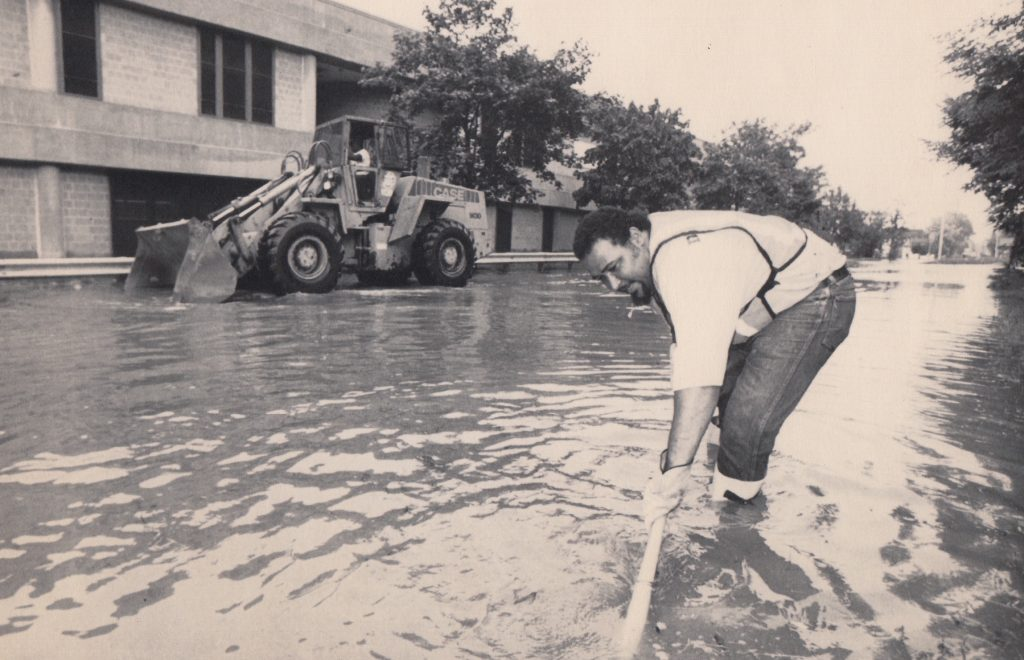 A water main break on September 14, 1994, flooded Gerena and the surrounding neighborhood.