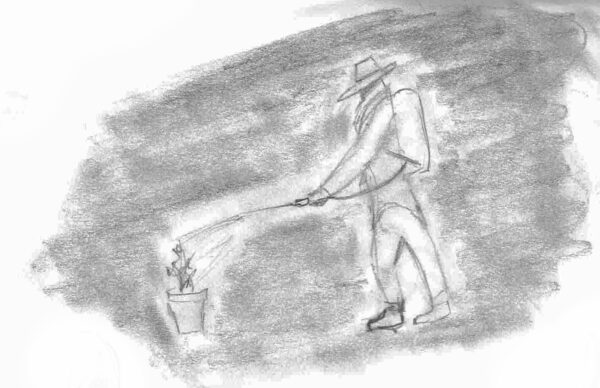 Drawing from Juan's description of work in Homestead, by Miguel Escotet.