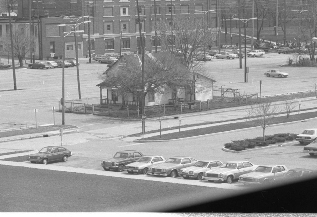 1980: The owner of this house resisted the IUPUI campus's displacement of an African American community.