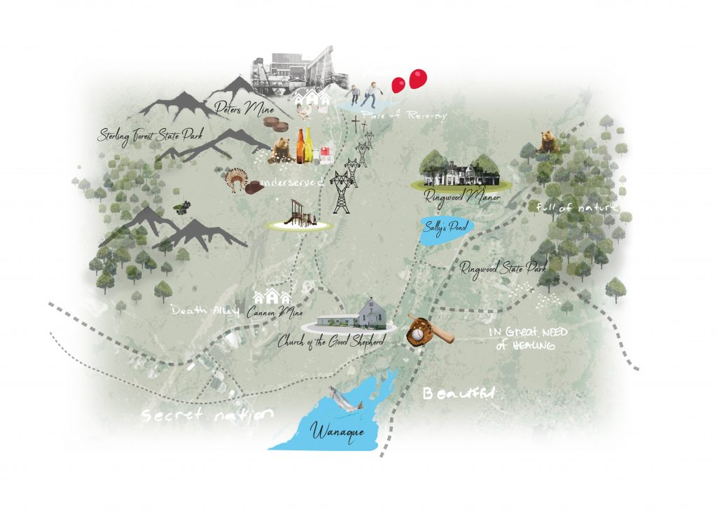 A memory map of Upper Ringwood, New Jersey, home to the Ramapough Lunaape Turtle Clan.