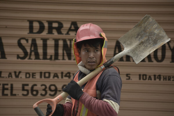 Construction worker in solidarity.
