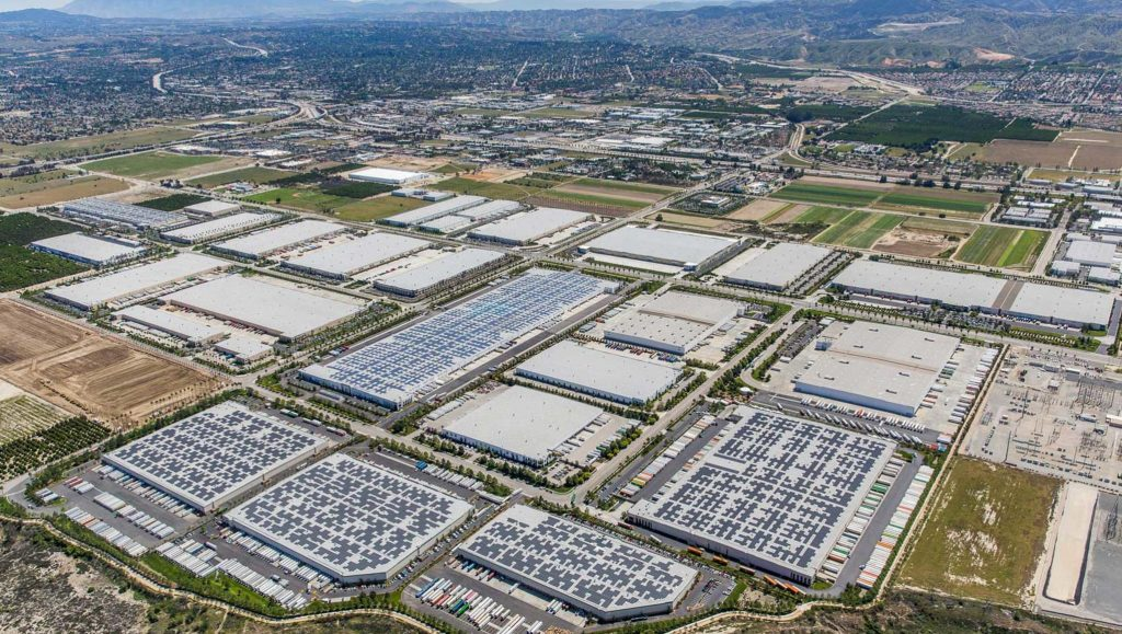 The last groves of the citrus empire paved over for the new empire of logistics, Redlands, 2019.