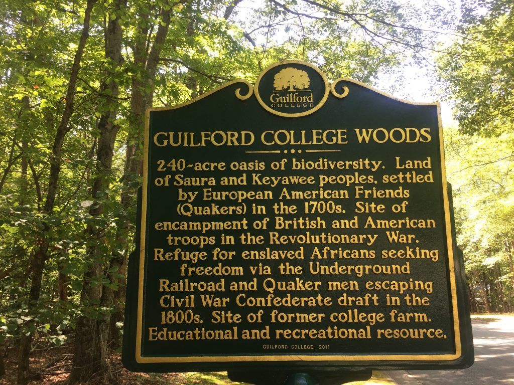 uilford College Woods is a sacred place in Greensboro where people go to learn about the brutal and brave history of the region.