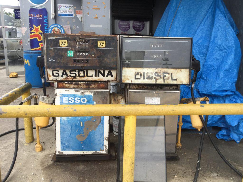 Gas station on Culebra. March 20, 2019.