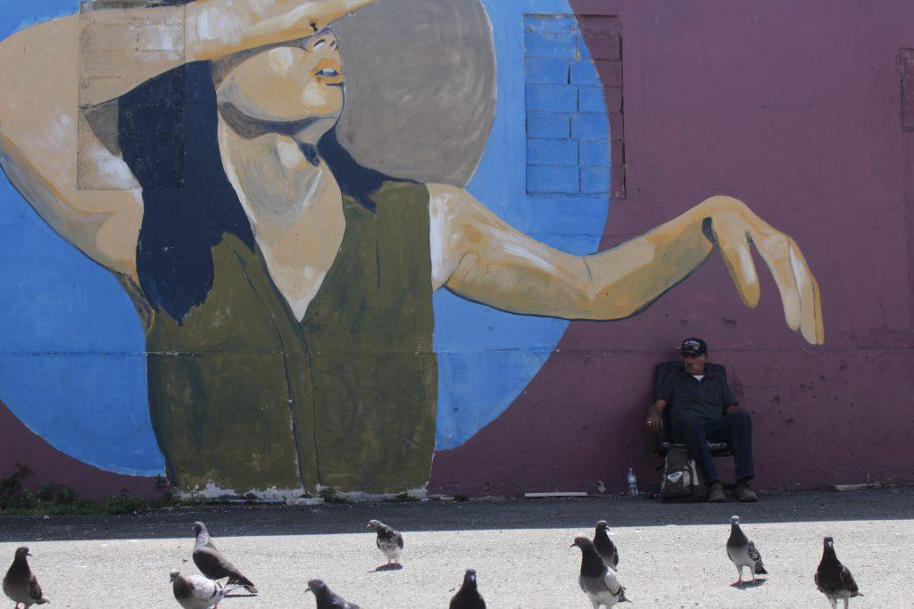 Mural in the Arecibo Plaza.