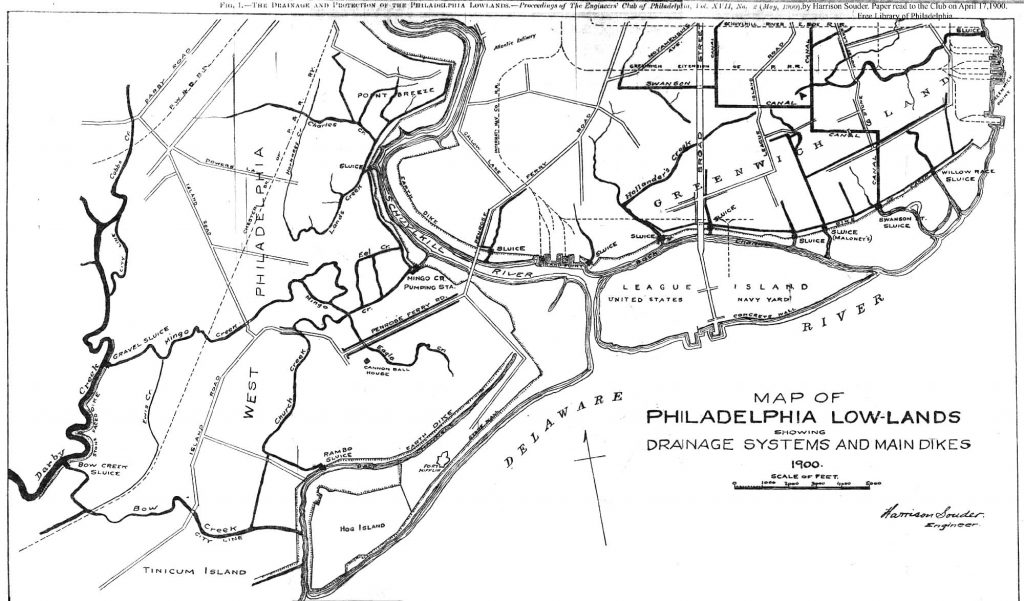 "1901 map first drawn to further drain shrinking wetlands. Most of these creeks are ""hidden"" today."