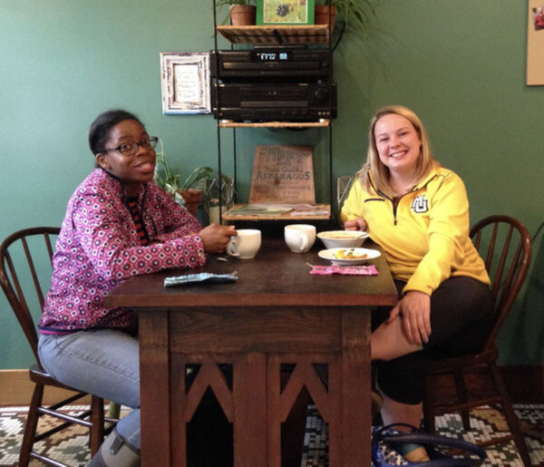 Tricklebee pay-as-you-can Café offers healthy meals in a food desert.