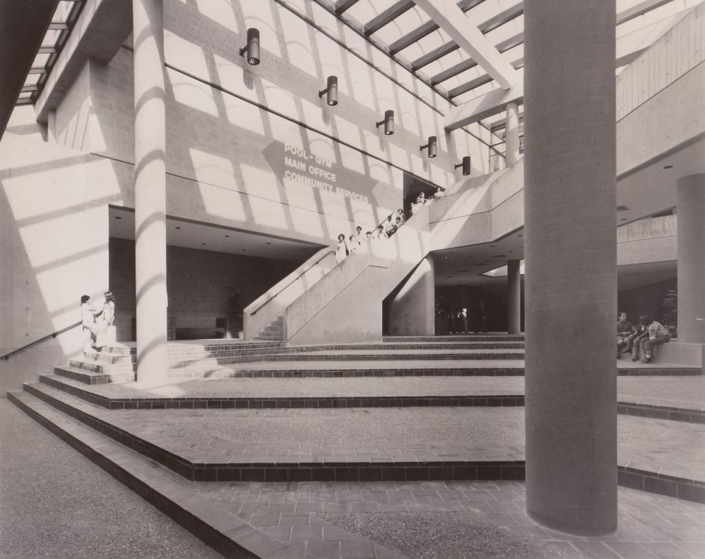 February 1976: Gerena's lower level housed now-closed community services.