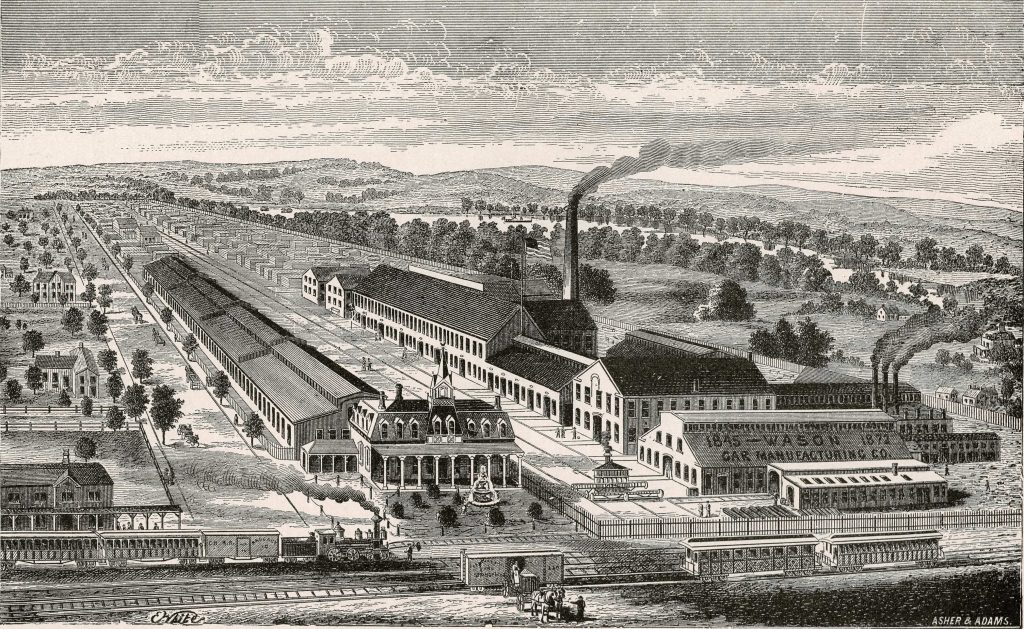 Ca. 1882: For over a century, the North End was home to heavy manufacturing industries.